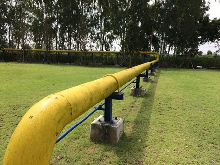 ngv: NGV fuel pipe line to power plant station.