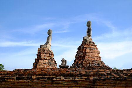 ayuttaya: Wat Chai Watthanaram ,Ayuttaya ,in Thailand Stock Photo