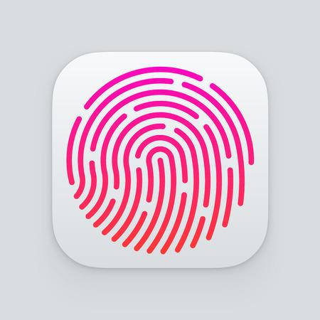 ID app icon. Fingerprint illustration Vector