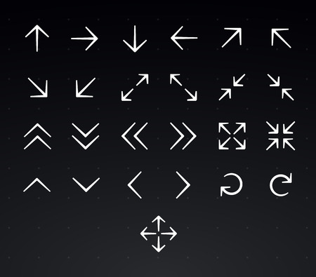 application recycle: Arrow icon set