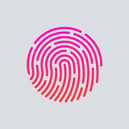 ID app icon. Fingerprint vector illustration Vector