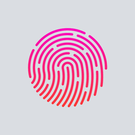ID app icon. Fingerprint vector illustration Stock Illustratie