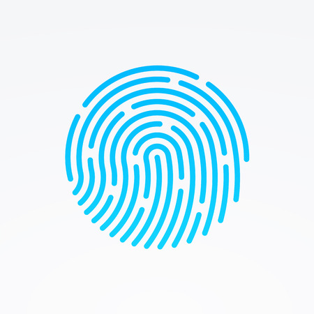 fingers: ID app icon. Fingerprint vector illustration Illustration