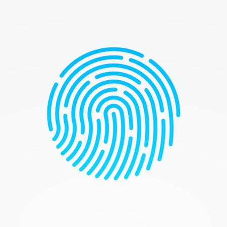 estampado: ID icono de la aplicación. Ilustración vectorial de huellas dactilares Vectores