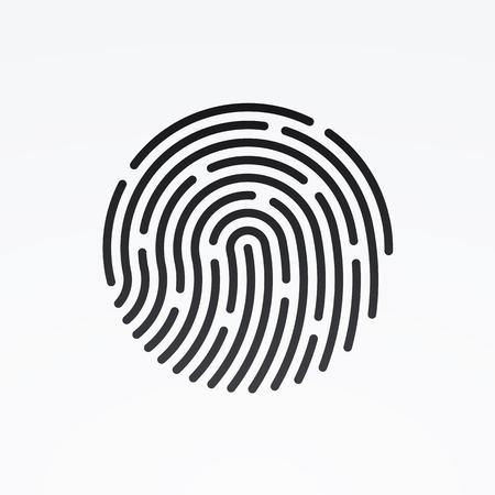 ID のアプリのアイコン。指紋ベクトル イラスト