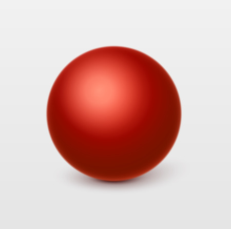 Glossy red sphere.Vector, isolated Vector