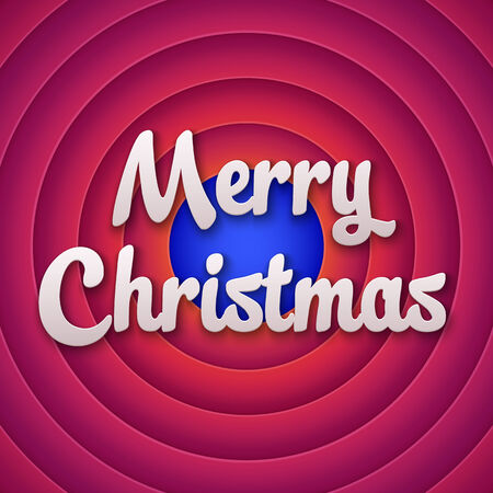 movie screen: Movie ending screen with Merry Christmas label. Vector