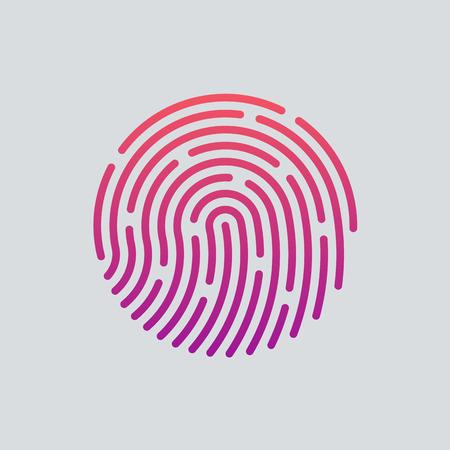 Ikona aplikace ID. Fingerprint vektorové ilustrace