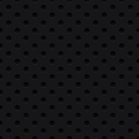 점선 된 검은 배경, 질감, 그릴. 원활한 패턴