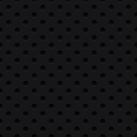 Dotted black background, texture, grill. Seamless pattern