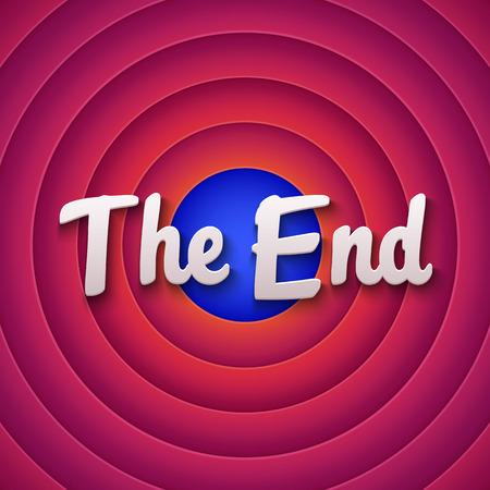 Movie ending screen. Vector