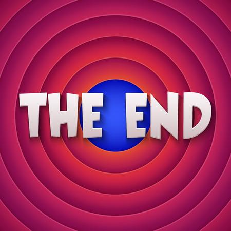 movie screen: Movie ending screen. Vector