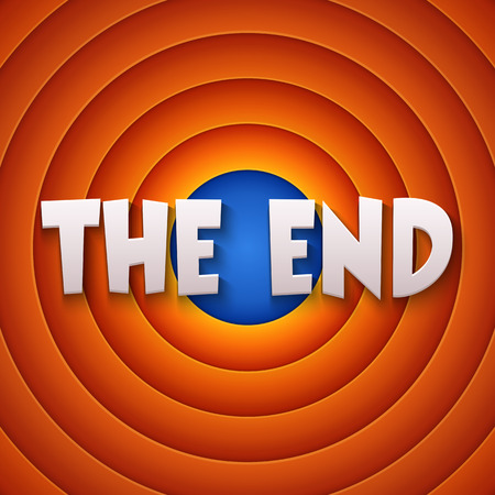end month: Movie ending screen. Vector