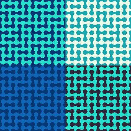 fondo para tarjetas: Simple patr�n abstracto con c�rculos conectados. Ilustraci�n vectorial Vectores