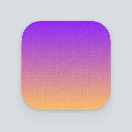 Colorful app icon. Vector template Vectores