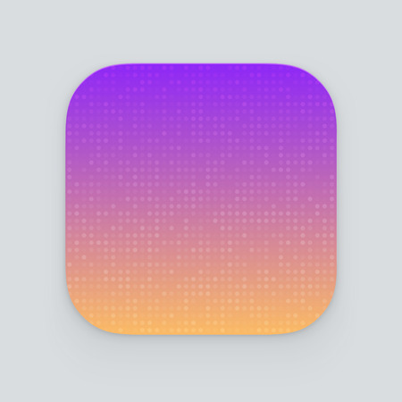 Colorful app icon. Vector template Stock Illustratie