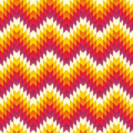 vintage fashion: Aztec seamless pattern. Vector Illustration