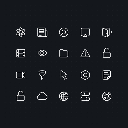 news icon: Outline vector icons for web and mobile. Thin 2 pixel stroke & 60x60 resolution