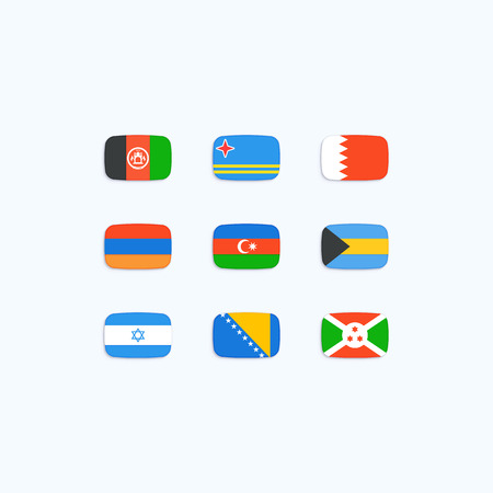 afghan: Flag of world. Vector icons Illustration