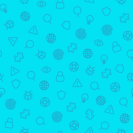 Security icons seamless pattern. Vector background Vector