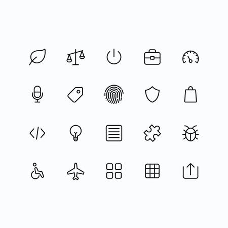 bugs shopping: Esquema de vectores iconos para web y m�vil. Thin ictus 2 p�xeles y resoluci�n de 60x60.