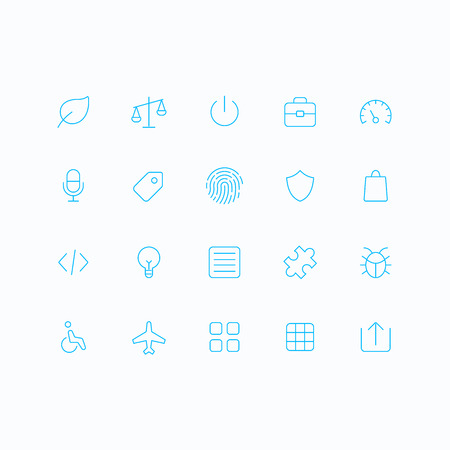 bugs shopping: Outline vector icons for web and mobile. Thin 1 pixel stroke & 60x60 resolution