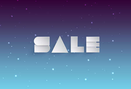 sell out: Abstract background with paper sale banner Illustration