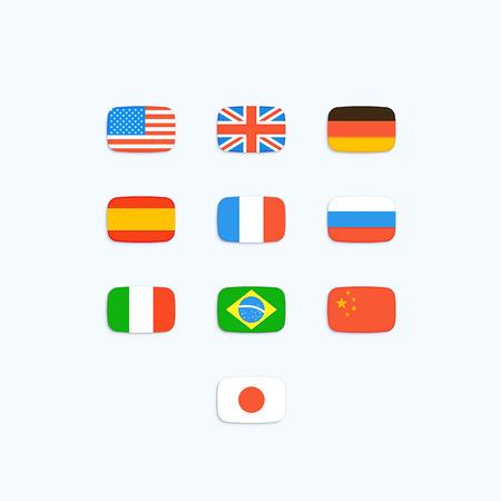 세계의 국기입니다. 벡터 아이콘 일러스트