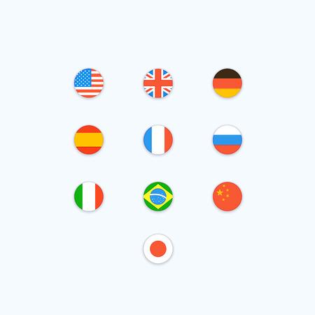 bandera rusia: Bandera del mundo. Iconos del vector