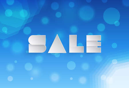 soft sell: Abstract background with paper sale banner Illustration