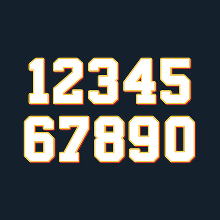 numbers abstract: Basketball numbers set. Vector illustration Illustration