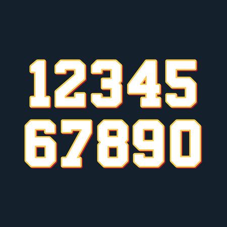 numero nueve: Números de Baloncesto establecen. Ilustración vectorial