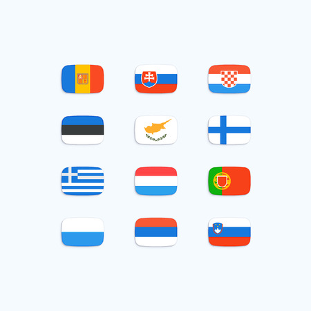 Flag of world. Vector icons Vector