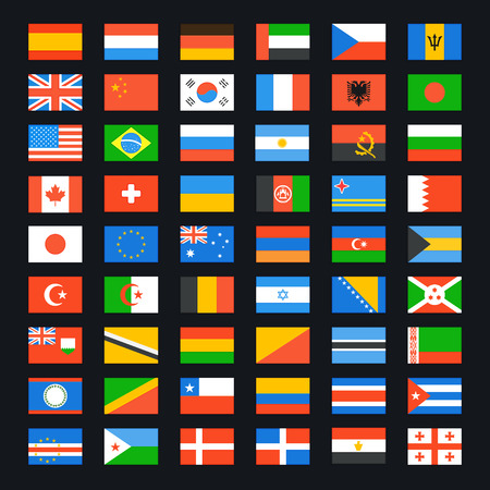 usa flag: Flag of world. Vector icons set