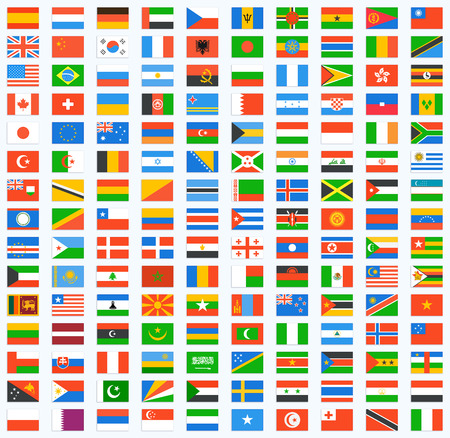 Flag of world. Vector icons 일러스트