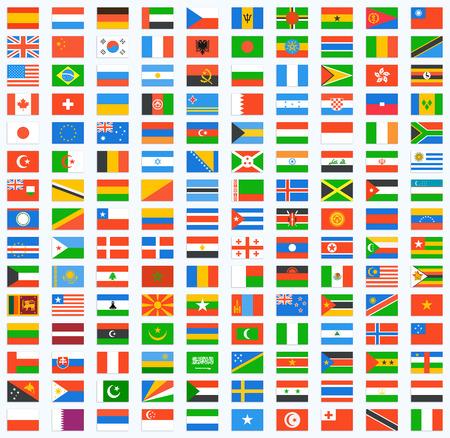 Flag of world. Vector icons Illustration