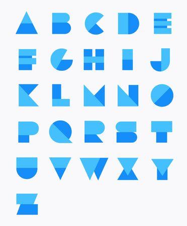 Geometric Paper Alphabet. Vector set