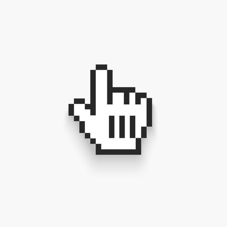 Vector Kursor myszy ręki. Pojedynczo na białym