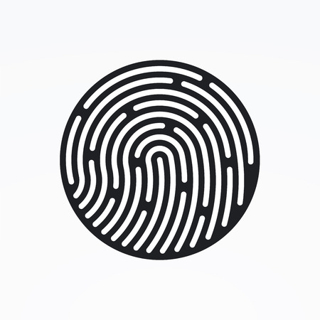 ID app icon. Fingerprint vector illustration Imagens - 43573037