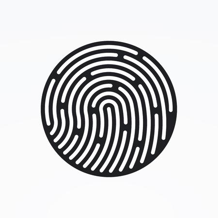 fingerprint: ID app icon. Fingerprint vector illustration Illustration