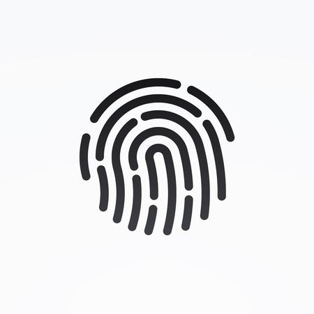 ID 앱 아이콘. 지문 벡터 일러스트 레이션 일러스트