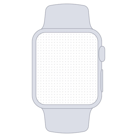 prototyping: Watch vector template for prototyping
