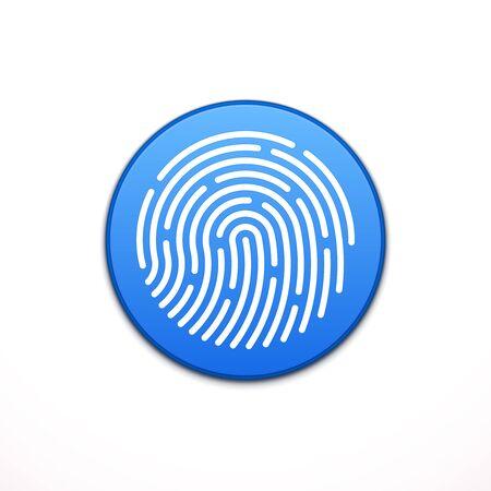 password protection: ID app icon. Fingerprint vector illustration Illustration