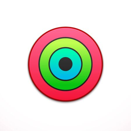 application button: Colorful app icon. Application, button icon. Vector illustration, template