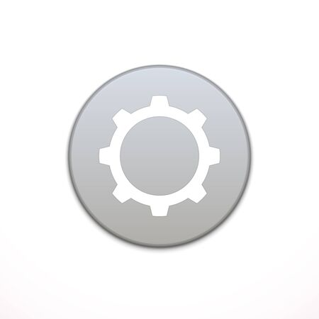 application button: Cog Settings app icon. Application, button icon. Vector illustration Illustration