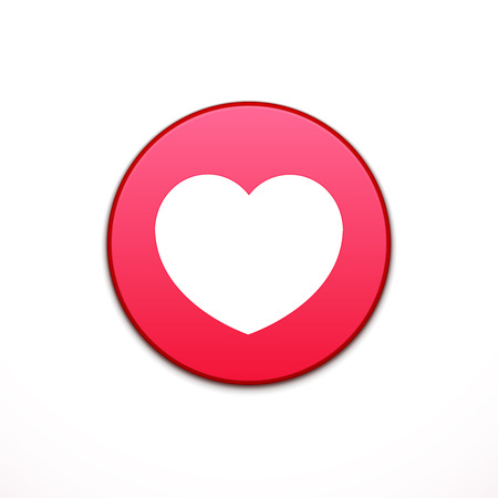 application button: Heart icon. Application, button icon. Vector illustration Illustration