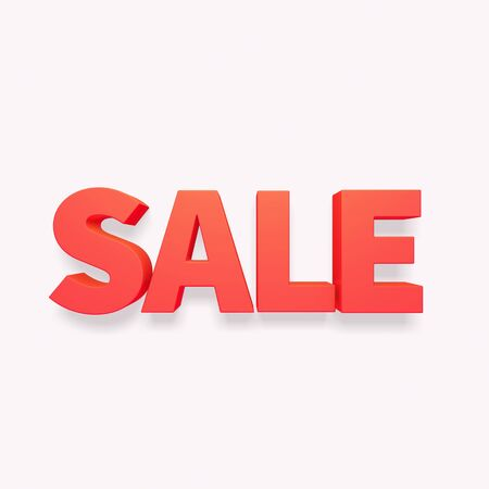 red label: 3d red label text SALE