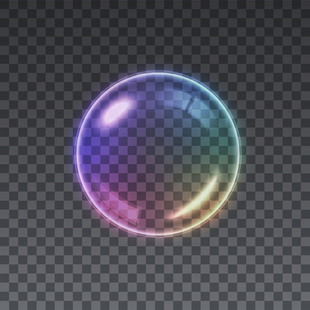 Transparent Multicolored Soap Bubble background.