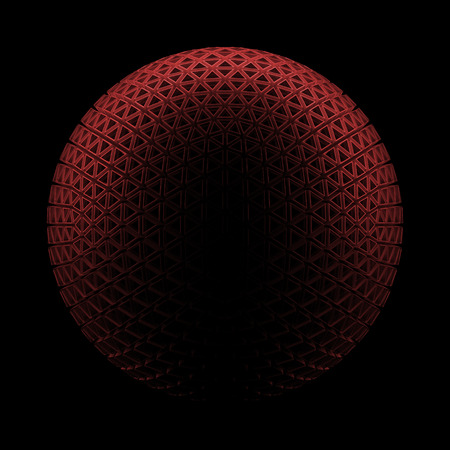 planet futuristic: 3D render planet, sphere with detailed data. Isolated Futuristic object Stock Photo