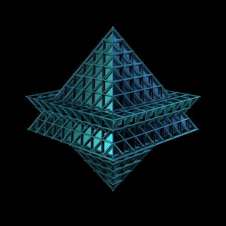 3d render of geometric platonic object. Isolated Futuristic object